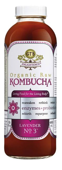 GT's Enlightened Lavender No. 3 Kombucha. Organic & Raw. #Kombucha