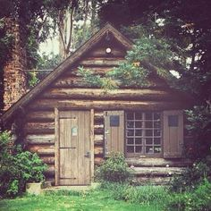 Small log cabin in the woods. Would absolutely love to own a cabin some day for once in a while getaways