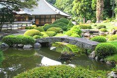 Japanese Stone Garden Bridge @ Kagoyama-en 香山園 Tokyo Japan