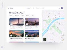 Travel App Web Design Concept by Dmitry Lauretsky Ui Kit, Travel Website Design, Web Ui Design, Logo Design, Application Design, User Interface Design, Travel Planner, Web Design Inspiration, Concept