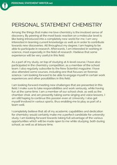 chemistry personal statement