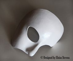 Phantom of the Opera White Leather Half Mask by NokturnelEclipse, $34.99