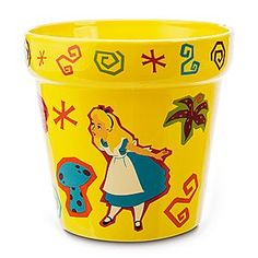 Disney Wonderland Garden Flower Pot - Medium | Disney StoreWonderland Garden Flower Pot - Medium - Your garden will come alive with the wonder and whimsy of Alice and the Cheshire Cat's fanciful flower pot, part of our <i>Alice in Wonderland</i> Garden Collection, each item sold separately.
