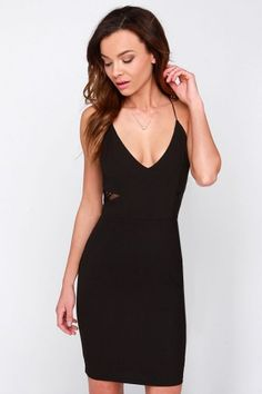 Sexy Stunning Strap Contrast Lace Dress | USTrendy