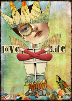 LOVE LIFE: Art by Dale created with MELANGE MASH UP KIT by Tumble Fish Studio at Mischief Circus http://www.mischiefcircus.com/shop/product.php?productid=22957&cat=&page=