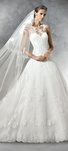 Pronovias 2016 Wedding Dress -- Custom Made Bridal Gown & Design Your Own Dress! Click now www.yalandesign.com