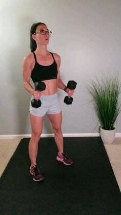 Tone flabby arms and build a strong back with this upper body dumbbell workout routine. This at home workout is the best way to build strength and muscle at home for men and for women. Dumbbell Workout Routine, Upper Body Dumbbell Workout, Home Exercise Routines, At Home Workouts, Men Exercise, Workout Routines, Excercise, Fitness Workouts, Gym Workout Tips