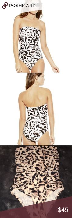 Leopard Swimsuit Vince Camuto One piece swimsuit Size 10 Never worn❤ I Love Offers❤ Vince Camuto Swim One Pieces