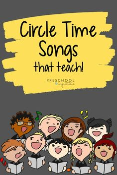 Preschool Songs for Circle Time Music is one of our favorite teaching tools! Use these preschool songs in your circle time to teach a variety of topics and preschool themes, including the alphabet, the planets, days of the week, and much more! Kindergarten Songs, Preschool Songs, Preschool Learning Activities, Preschool Curriculum, Preschool Themes, Preschool Lessons, Kids Songs, Free Preschool, Circle Time Ideas For Preschool