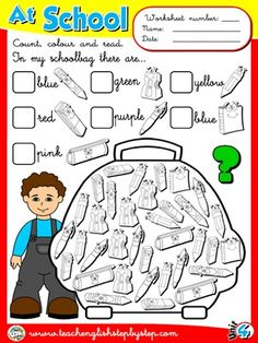 At School - Worksheet 8
