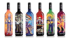 The La Catrina wines bottles are intricate and colourful; the concept of each design is to represent the theme of weddings or wedding party. The packaging of the ghostly La Catrina wine bottles are dark bottles covered in different colours such as orange, blue, pink green red and much more. Each bottle has different ghost/skeletons in different clothing and characteristics along with different names e.g sweet red, Merlot etc in white curved texts. These wedding theme bottles can be collected…