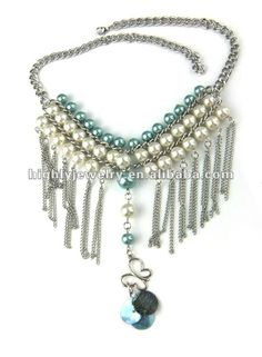 Cheap Chunky Cowgirl Jewelry | 2012 New Style Fashion Cheap Chunky Pearl Pendant Necklaces Bib, View ...