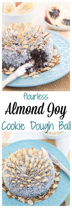 Flourless Almond Joy Cookie Dough Ball Pinterest Collage.jpg