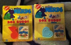 Two unopened packages of sunmark wonka nerds & box buddy circa 1985. These are some of the first ones ever made.