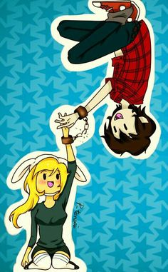 """(Marshall Lee """"Now your stuck with me"""" Fionna """"Oh Marshall Lee:D"""" Then:""""Marshall's evily cute laugh.)"""