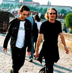 Dave Gahan and Jonathan Kessler of Depeche Mode