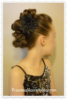 Messy bun faux hawk for long hair tutorial.  Dance hairstyle!
