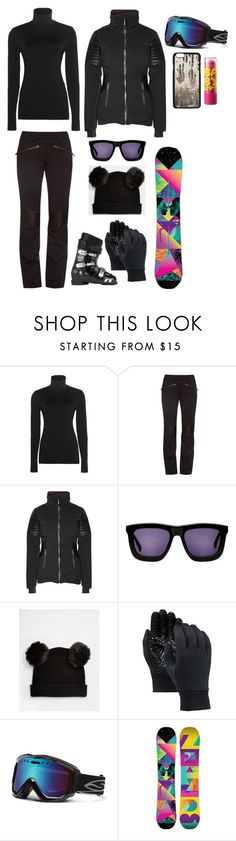 """""""09/01 - Mammoth Mountain Ski"""" by florenceturner ❤ liked on Polyvore featuring Wolford, Christian Lacroix, Karen Walker, Monki, Full Tilt, Burton, Vianel, Maybelline, women's clothing and women's fashion"""