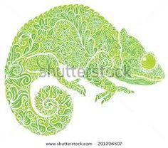 Resultado de imagem para chameleon tattoo designs