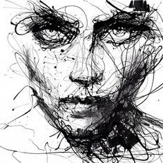 agnes cecile 02 650x650 Powerful Dripping Paint Portraits by Agnes Cecile