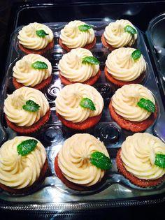 Bootlegger Cupcakes - Someone is having a happy birthday with these Triple Berry Mojito cupcakes! #boozecupcakes #Lawrence Kansas