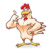 Clip Art of Happy Rooster Walking k8753608 - Search Clipart, Illustration Posters, Drawings, and EPS Vector Graphics Images - k8753608.eps