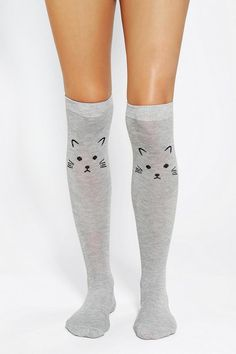 Kitten Knee-High Sock #urbanoutfitters