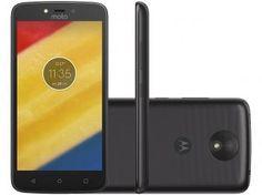 "Smartphone Motorola Moto C Plus 16GB Preto - Dual Chip 4G Câm. 8MP Tela 5"" HD Proc. Quad Core"