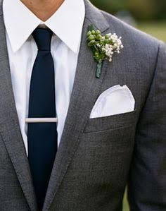 Image result for dusty blue and charcoal suit wedding