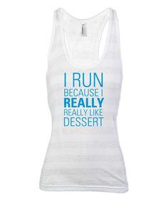 Heather Gray Stripe I Run Racerback Tank   zulily  #streetstyle