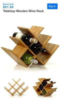 """Tabletop Wooden Wine Rack Width: 17"""", Depth: 6.7"""", Height: 11.6"""""""