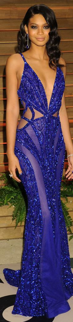 Chanel Iman / Vanity Fair Party #dress