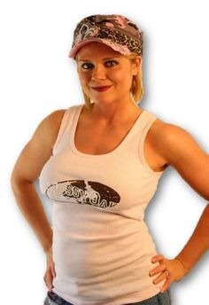Mossy Oak Tank Top, Juniors Womens Fitted Ribbed Logo Tee OR Pink Camo