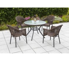 You'll love the 4 Seater Dining Set at Wayfair.co.uk - Great Deals on all Outdoor products. Enjoy free delivery over £40 to most of the UK, even for big stuff. Metal Table Frame, Royal Craft, Corner Dining Set, 3 Piece Bistro Set, Garden Table And Chairs, Royal Garden, Extruded Aluminum, Outdoor Furniture Sets, Outdoor Decor