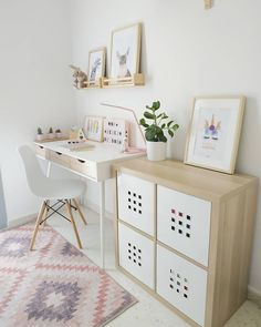 Bedroom Study Area, Home Study Rooms, Study Room Decor, Bedroom Desk, Room Ideas Bedroom, Bedroom Inspo, Cozy Home Office, Home Office Design, Desk Areas