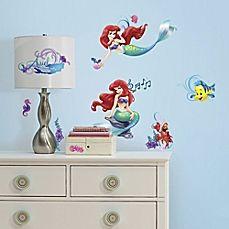 image of RoomMates Little Mermaid Peel & Stick Wall Decals