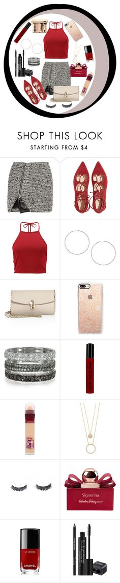 """red is love"" by ambershad ❤ liked on Polyvore featuring Bouchra Jarrar, Boohoo, Topshop, Dolce&Gabbana, Casetify, Bernard Delettrez, NYX, Maybelline, Kate Spade and Salvatore Ferragamo"