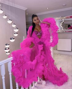 Prom Dresses With Sleeves, Pink Outfits, Tulle Dress, Cheap Dresses, Maternity Dresses, Clothes For Women, Ig Baddies, Red Bra, 19th Birthday