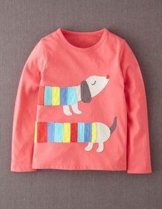 I've+spotted+this+@BodenClothing+Big+Appliqué+T-shirt+Radish+Sausage+Dog