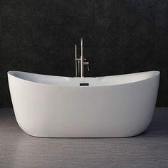 Woodbridge x Whirlpool Water Jetted and Air Bubble Freestanding Bathtub, / Whirlpool & Air Tub, Best Bathtubs, Soaking Bathtubs, Whirlpool Bathtub, Freestanding Bathtub, Mood Lamps, Thing 1, Jetted Tub, Wood Bridge, Decoration