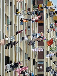 Oh how I loved living in Singapore....except when I'd drop my laundry out the window and have to run to the bottom of the building to retrieve it. Those poles are HEAVY when there are wet clothes on them.