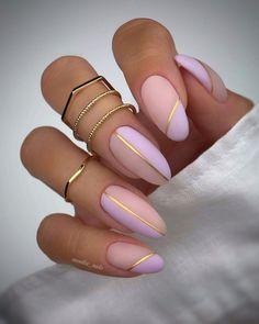 Almond Shape Nails, Almond Acrylic Nails, Best Acrylic Nails, Acrylic Nail Designs For Summer, Almond Nail Art, Chic Nails, Stylish Nails, Swag Nails, Trendy Nail Art