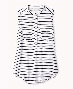 Essential Striped Chiffon Top | FOREVER21
