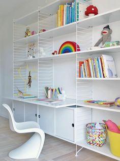 chaise de bureau enfant, chaises fly, étagère murale en fer blanc