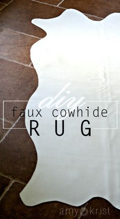 DIY Faux Cowhide Rug