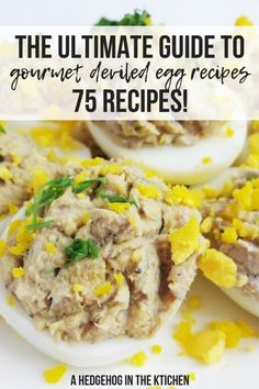 The ultimate guide to gourmet deviled egg recipes, including deviled eggs with bacon, avocado deviled eggs, Halloween & Easter recipes. Sweet Potato Bbq, Sweet Potato Wedges, Devilled Eggs Recipe Best, Deviled Eggs Recipe, Egg Recipes For Breakfast, Quick Dinner Recipes, Best Egg Recipes, Fun Recipes, Gourmet
