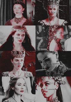 """I will give this wretched world the queen it deserves."" - evil queens"