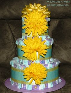Boutique diaper cake.  See http://www.lisasgiftcakes.com for more info or to order!
