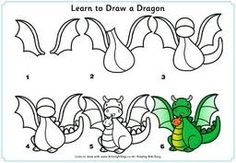 drawing a dragon for kids -www.activityvillage.co.uk