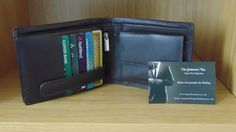 Cow Nappa Leather XL Wallet Dark Brown